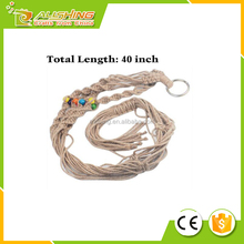 Wholesale t two -Pack Plant Hanger Macrame Jute 4-Leg without Hoop for Indoor Outdoor Balcony Ceiling Patio Deck Round