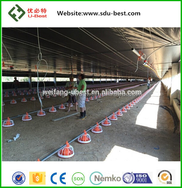 automatic control poultry shed, farm for broiler layer chicken shed new design