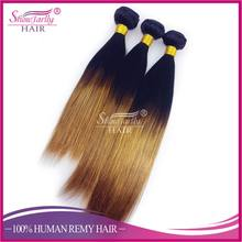100% virgin human ombre hair braiding hair, brazilian ombre weave hair, sew in human hair weave ombre hair