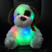 factory custom made shine led plush dog toys