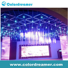 High tech 16pixel 42 channels 10W 64pcs leds Lower price rgb tube dmx512 DC24V save power 40%for night club,stage,TV show