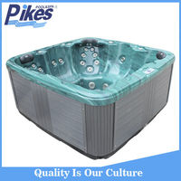 stainless steel jet whirlpool bathtub with tv massage spa hot tub JY8017