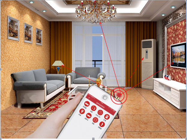 Smart phone APP remote control connect household appliances infrared universal controller