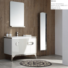 White Bathroom Cabinet with dressing mirror