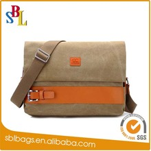 Fashion men's canvas briefcase&men casual messenger bag China&Office bags for men China supplier