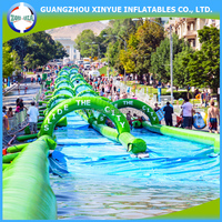 300 meters long giant inflatable water slide the city