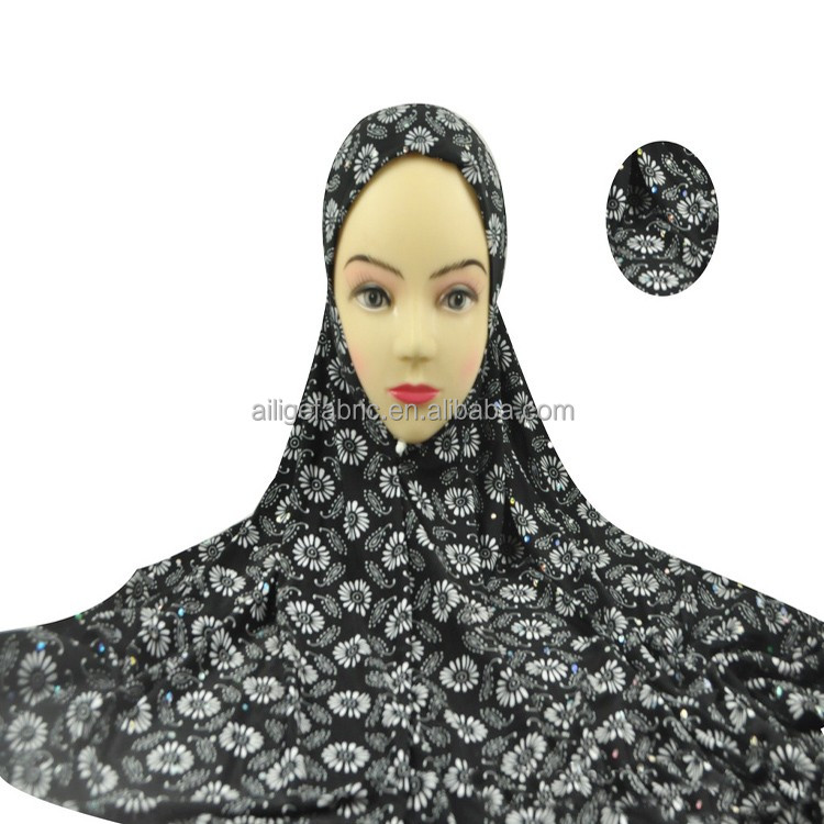 voile fabric / black Arab abaya fabric / Muslim head scarf fabric