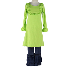 Children Wholesale Boutique Clothes Popular Dress and Ruffle Pants for Little Girls Outfits for Fall