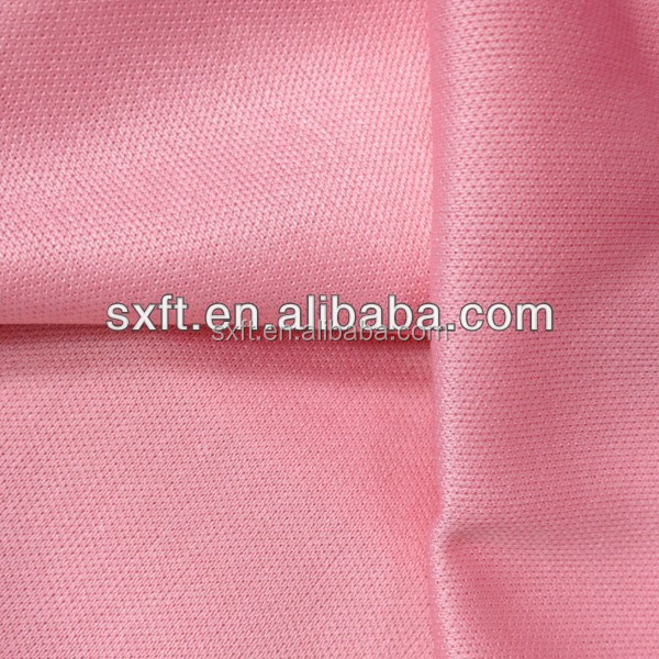 100 polyester knitted double single jersey interlock fabric