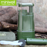 Emergency portable water purifier for disaster preparedness camping equipment personal water filter