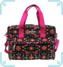Multi-function nice looking printing diaper bag with mat