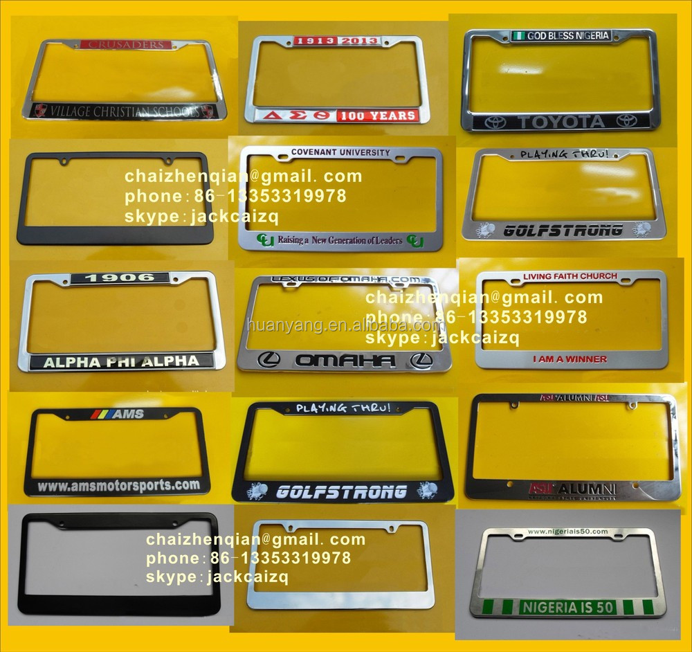 license plate frame wholesale