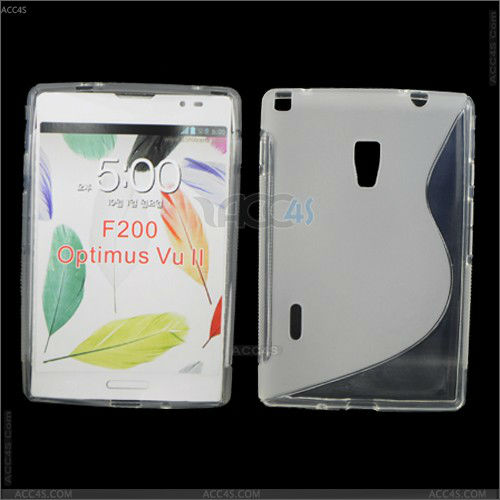 back cover for lg S-line TPU case for LG F200 Optimus Vu 2 P-LGF200TPU002