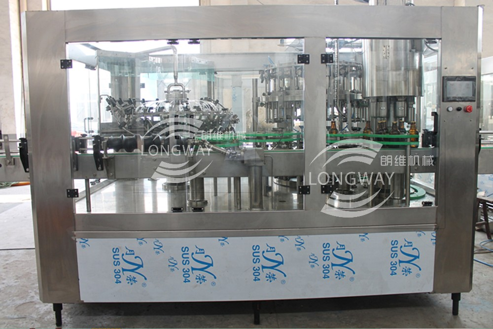 100% Factory Longway pull ring cap glass bottle beer filling machine/ washing-filling-capping