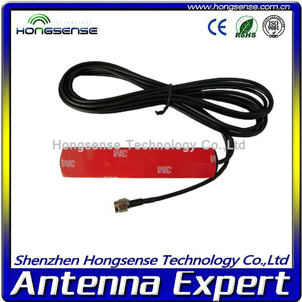 Hongsense hot sales vhf uhf 433mhz /868mhz/gsm/3g patch antenna with Customized cable and connector