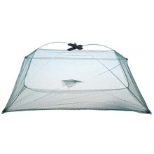New 60cm x 60cm Retractable Foldable Net Closed Fish Shrimp Minnow Crab Cage Fishing Gear Fishing Shrimp Trap