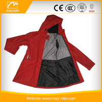 Wholesale PU Waterproof ladies wind coat