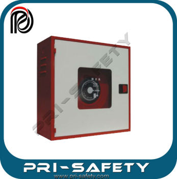 Steel box for manual fire hose reel, door with glass window PSE-CT-004