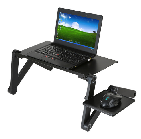 Portable Adjustable Laptop Desk Table Foldable 360 Degree Notebook Standing Desk With Mouse Pad Stand For Bed Sofa