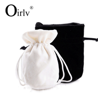 Oirlv China Custom Promotion Jewellery Drawstring Bags Accessory gift bag velvet jewelry pouch