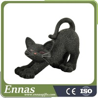 Polyresin black cat gifts for halloween decorations