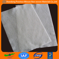 40%polyester embossed fabric spunlace non woven for wet towel made in china