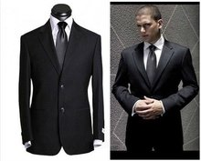 Free shipping! 2012 Hot sale! black custom-made suit men's suits for business and wedding