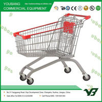 Easy-moving Shopping Cart For Supermarket
