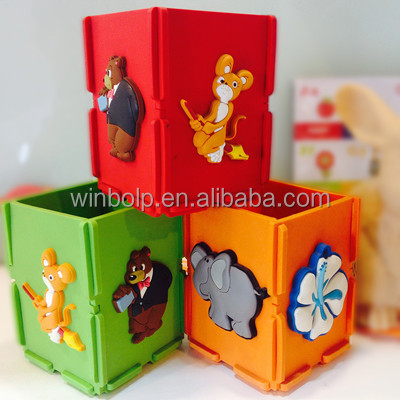 Winbo plastic pen holder with cartoon