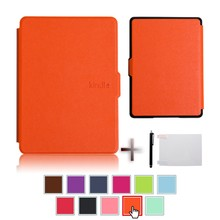 Ultra-slim cover case for all-new Kindle 8th ebook reader, 2016 +screen protector+stylus pen