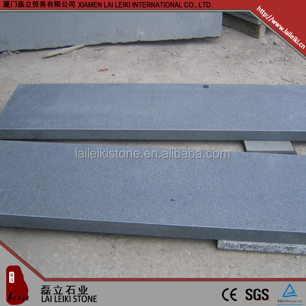 China black granite stair step granite look ceramic tiles for stair treads