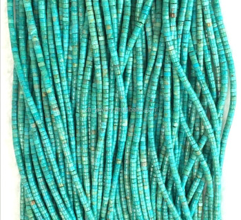 New heishi shape turquoise loose beads in bulk
