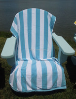 China supplier 100% cotton Turkish Ultra Luxury Stripe Cabana Beach Towel, 35x70