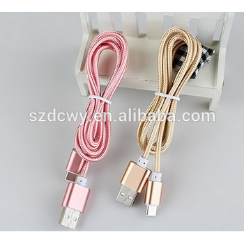 2016 Wholesale smart phone USB Cable USB charging cables usb type-c cable