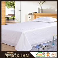 Wholesale Cheap White Plain 200TC Twin Flat Sheets