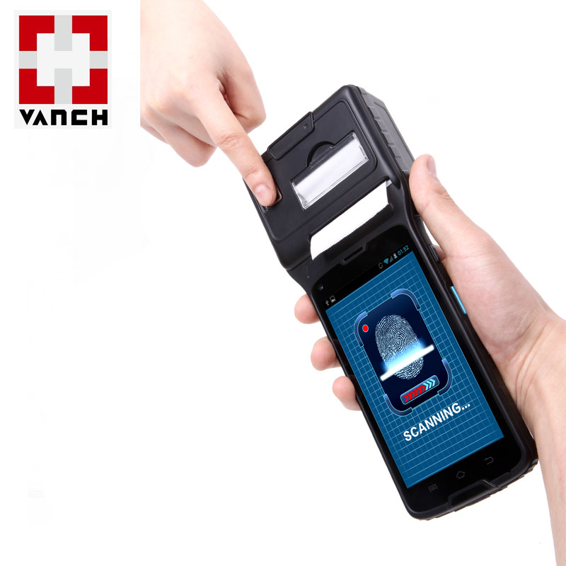 VANCH industrial design RFID handheld PDA with thermal printer