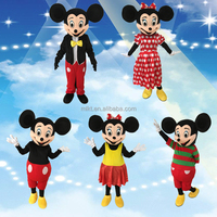 2017 hot sales classical cartoon character mascot costume adult mickey mascot costume