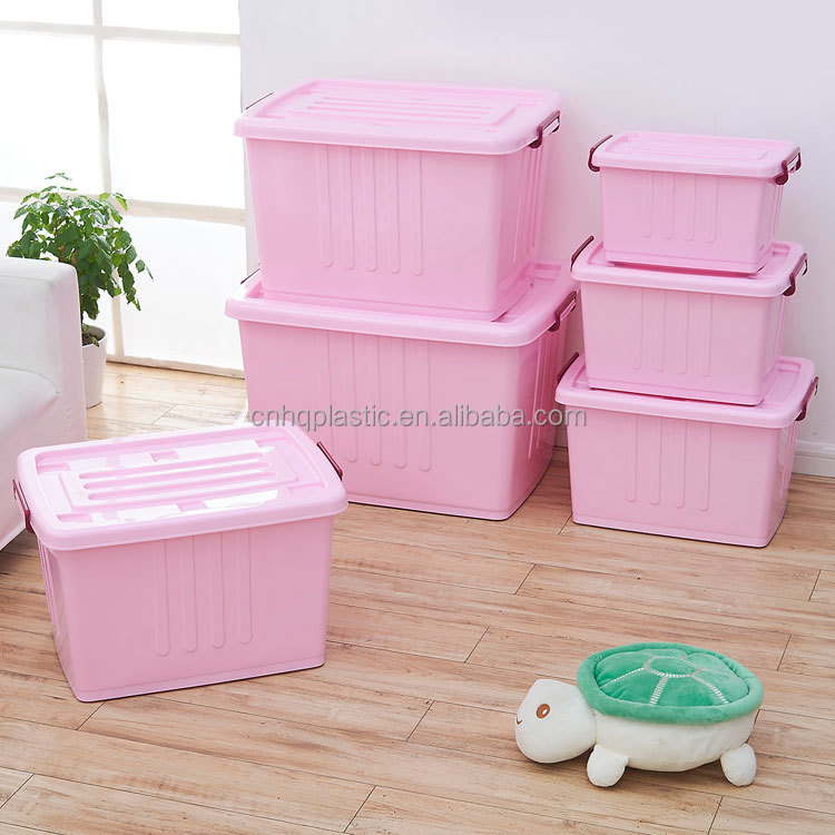 170L 120L 80L Useful colorful plastic storage box for clothes storeage compartment Organizer box storage baskets