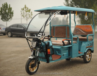 passenger rickshaw /S-006 Enclosed Motor Tricycle for passenger cargo