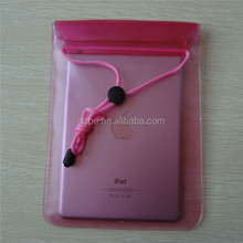 Hot Sale PVC Multi-functional Waterproof Pouch for vatop 10.1 tablet pc in pink color ( red )