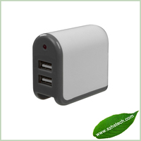 2013 High Output ABS Material /White Color/ Blister Packing 220v multi usb charger for samaung S4 N7100 with 1 year warranty