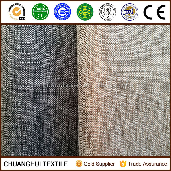 Professional manufacture cheap polyester faux linen blackout fabric for curtain