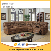 New design top grade leather Corner sofa leather recliner sofa