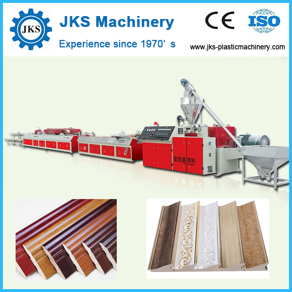 wood plastic pvc wpc door making machine with different molds