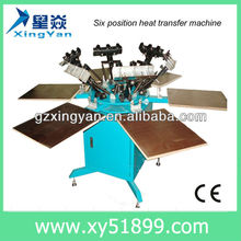 2013 hotest!!! 4 colors manual screen printing machine/CE Approved heat press machine/heat transfer machine