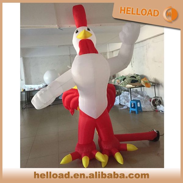 custom made 2.5m tall lovely inflatable rooster model for display