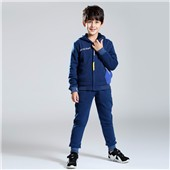 Winter wears zipper hoodies thick fleece sweatshirt kids boys clothing sweatshirt sets