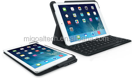 425g Bluetooth keyboard with folding pu leather case
