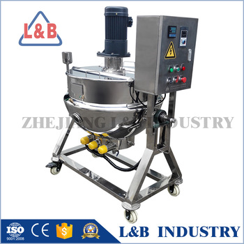 food grade electric/steam/gas heating jacketed cooking kettle/pots