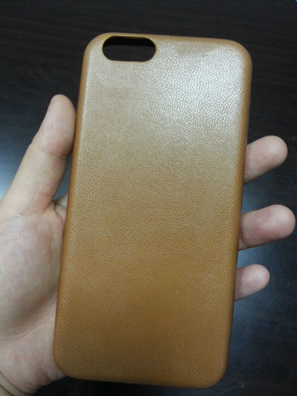 Top quality factory Custom PU Leather Coating Touching Soft TPU Skin Cover Case For iphone 6/6plus